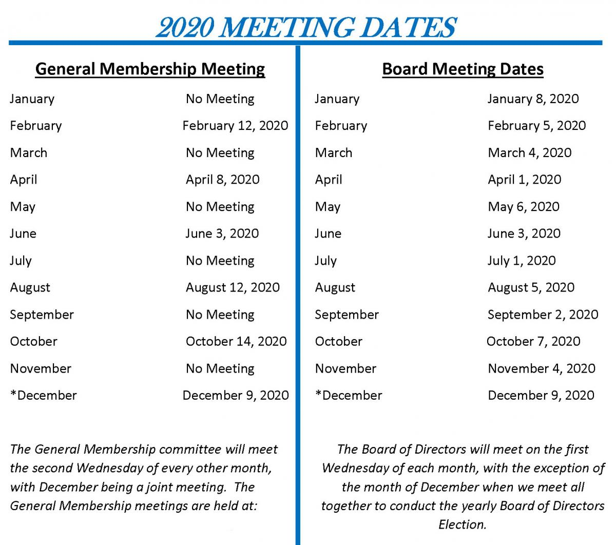 Kanawha Putnam Emergency Planning Committee 2020 Meeting Dates